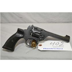 Enfield Model No. 2 MK1* .38 S & W Cal 6 Shot Revolver w/ 127 mm bbl [ flat war finish, Dated 42, go