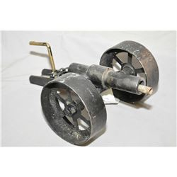 "Hand Made Breech Loading 1"" Bore Cannon, w/ 7"" bbl, 14"" Overall Length, 7"" Wheels , with chains"