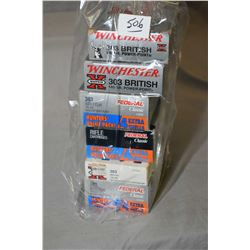 Bag Lot : Six Boxes ( some 20 & 24 rnds ) .303 Brit Cal Ammo