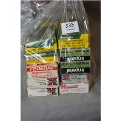 Bag Lot : Ten Boxes ( 20 rnds per ) .30 - 30 Win Cal Ammo