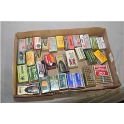 Tray Lot : Collector .22 Cal Ammo - Approx. Twenty Eight Plus Boxes