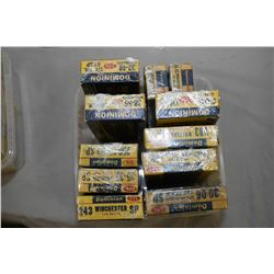 Plastic Tray : Collector's CIL Dominion Ammo : Eleven Boxes ( 20 rnds per ) - Two Boxes ( 20 rnds pe