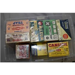 Plastic Tray : Eight Various Boxes Collectable Shot Shells : Gevelot, Canuck, Peters, etc.