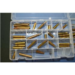 Lot of Three Plastic Trays : Collector's Ammo & Brass with index cards of listing