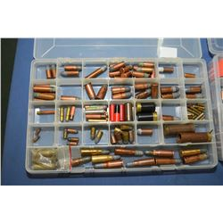 Lot of Two Plastic Trays of Collector's Ammo Rimfire Cal