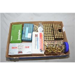 Tray Lot : Approx. Over 280 Rnds .44 - 40 Cal Ammo [ factory & reloads ] - Plastic Jar : Approx. 40