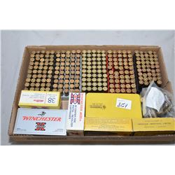 Tray Lot : Over 300 Rnds .38 - 40 Cal Ammo [ mostly reloads ] - Approx. 5 Boxes .38 S & W Cal [ appe