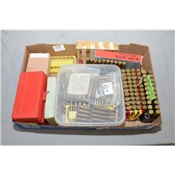 Tray Lot : Approx 30 Rnds .7 MM Mauser Cal Ammo - 20 Rnds 7.62 x 51 - Asstd Rnds of 7.62 x 54 R Cal
