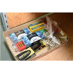 Tray Lot : Approx 130 Rnds .32 - 40 Cal Ammo - 50 Rnds .32 Spec Cal - 20 Rnds .25 - 35 Cal - Factory