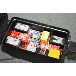 Black Plastic Ammo Box : Full of Bullets [ .243 Diam, .375, .377, .321 ]
