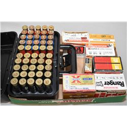 Tray Lot : Gunguard Plastic Shotgun Ammo Case Full of Shot Shells - plus Four and Part Boxes Various