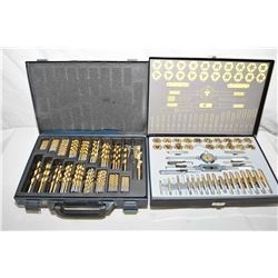Lot of Two Items : Metal Cased Mastercraft Case Full of Various Drill Bits - Metal Cased Maxum Tap &