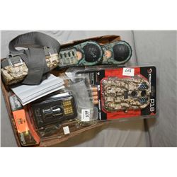 Tray Lot : Stealth Camo Mod P18 Camera [ appears as new in box ] - Bushnell Field Scan Trophy Cam [