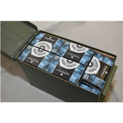 "Green Metal Ammo Box : with approx. 35 Boxes ( 5 rnds per ) .12 Ga 2 3/4"" Federal Buck Shot"