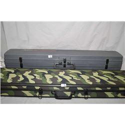 Lot of Two Items : Woodstream Double Side Two Gun Luggage Style Gun Case - Camo Double Rifle Luggage