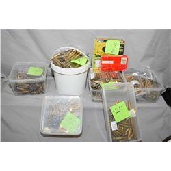 Large Box : Assorted Brass : .30 - 06, .7 MM Mag - 6.5 x 55 - .30 - 06 - .30 - 30 etc.