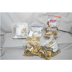 Box Lot : Appears to be New Brass : .50 - 70, Tub with .44 Russian - Bag of .45 - 60 - Three Bags .4