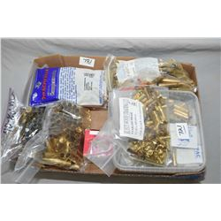 Tray Lot : Brass : .40 - 82 WCF, .45 - 90, .32 - 20 - 2 bags .38 - 55 - 2 bags .33 Win - small box (