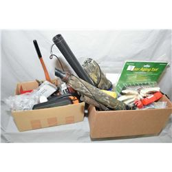 Lot of Two Boxes : Misc Reloading & Accessories, Hunting, etc. - Deer Jaw Puller, elk calls, etc.
