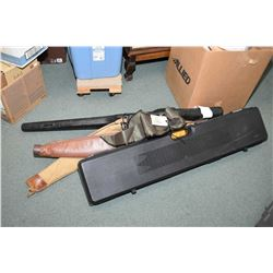 Bundle Lot : Kolpin Gun Boot - Black Plastic Foam Lined Rifle Case w/ 3 trigger locks inside but onl