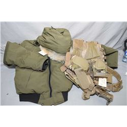 Lot of Four Items: Canada Goose Arctic Program Coat w/fur lined hood Size Large - Tactical Vest , Kn