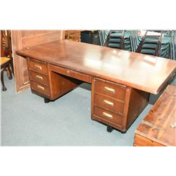 Large double pedestal desk