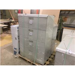 GREY 4 DRAWER & 3 DRAWER LATERAL FILE CABINETS
