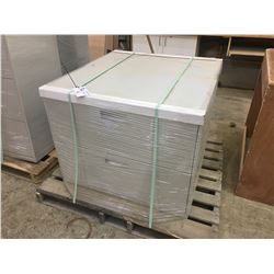 PAIR OF GREY 2 DRAWER FILE CABINETS