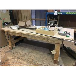 WOOD WORK TABLE - APPROX. 4 X 9 FT