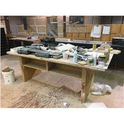 WOOD WORK TABLE - APPROX. 4 X 8 FT