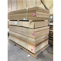 PALLET OF WOOD STOCK - 8 X 4 FT