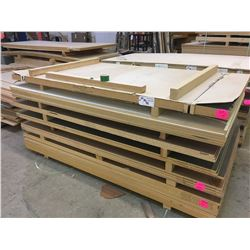 PALLET OF ASSORTED WOOD STOCK - 8 X 4 FT