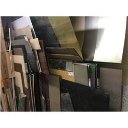 ASSORTED VENEER, LEXAN, EPOXY & OTHER MISC. SHEET/ROLLED MATERIAL