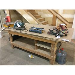 WOOD WORK BENCH - APPROX. 6 X 4 FT