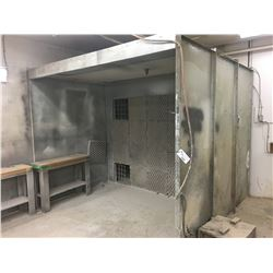 METAL BOLT TOGETHER PAINT BOOTH - APPROX. 115 X 72 X 92 IN.
