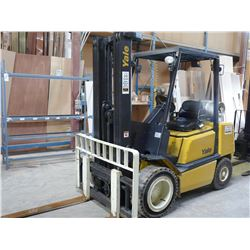 YALE GLP 060 LPG FORKLIFT WITH 3 STAGE MAST, SIDE SHIFT, 6127 HOURS