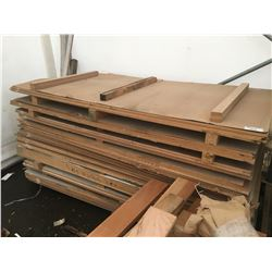 LARGE LOT OF ASSORTED WOOD SHEETS