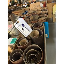 LOT OF SANDING BELTS