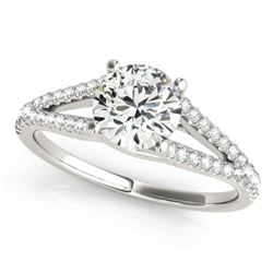 0.75 CTW Certified VS/SI Diamond Solitaire Ring 18K White Gold - REF-116K4W - 27948