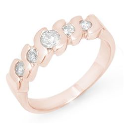 0.50 CTW Certified VS/SI Diamond Ring 14K Rose Gold - REF-50W9H - 11439