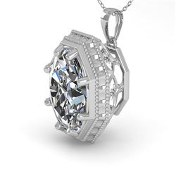 1 CTW VS/SI Oval Cut Diamond Solitaire Necklace 18K White Gold - REF-287Y7X - 36000