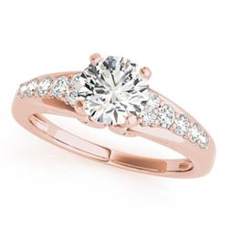0.90 CTW Certified VS/SI Diamond Solitaire Ring 18K Rose Gold - REF-138H2M - 27604