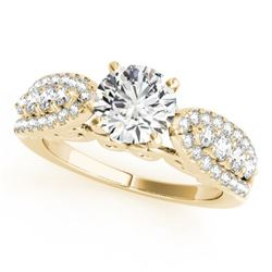 1.45 CTW Certified VS/SI Diamond Solitaire Ring 18K Yellow Gold - REF-240V4Y - 27872
