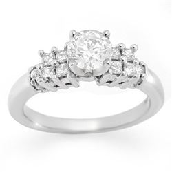 1.20 CTW Certified VS/SI Diamond Solitaire Ring 14K White Gold - REF-213M5F - 11290