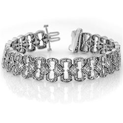 3.0 CTW Certified VS/SI Diamond Bracelet 14K White Gold - REF-309A3V - 10075