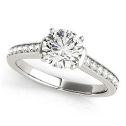 1.50 CTW Certified VS/SI Diamond Solitaire Ring 18K White Gold - REF-385Y6X - 27528