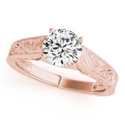 1 CTW Certified VS/SI Diamond Solitaire Wedding Ring 18K Rose Gold - REF-297A2V - 27811