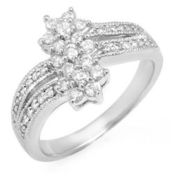 0.75 CTW Certified VS/SI Diamond Ring 14K White Gold - REF-73V8Y - 11048