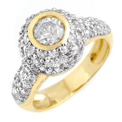2.20 CTW Certified VS/SI Diamond Ring 14K Yellow Gold - REF-176N2A - 13359