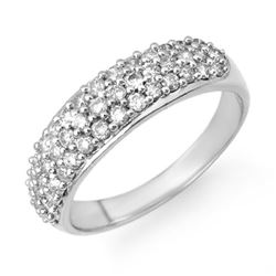 1.0 CTW Certified VS/SI Diamond Ring 14K White Gold - REF-80M5F - 14225